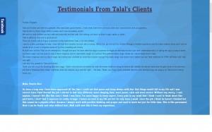 Testimonials screenshot